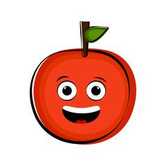 Happy orange cartoon character emote
