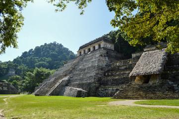 Pyramiden von Palenque 1; Maya-Stätte, Mexiko