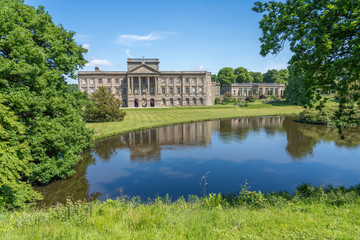 Lyme House at Lyme Park Cheshire in spring sunshine