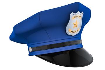 Police hat, cap. 3D rendering