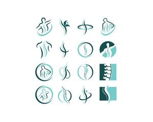 Creative Chiropractic Concept Logo Design Template