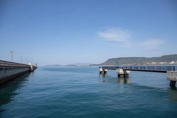 Landscape of Takamatsu port in Takamatsu city,Kagawa,Shikoku,Japan