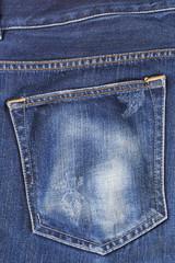 Blue jean pocket - Top view