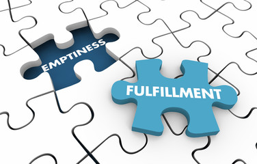 Emptiness Vs Fulfillment Purpose Reason Value Puzzle 3d Illustration