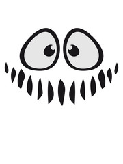 lustig süß neidlich mund fresse grinsen monster böse gesicht comic cartoon clipart horror halloween