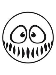 kreis rund lustig süß neidlich mund fresse grinsen monster böse gesicht comic cartoon clipart horror halloween