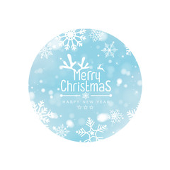 Merry Christmas and Happy new year design background. Vector illustration