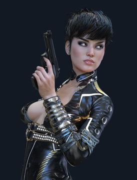 Beautiful  Female Super Spy