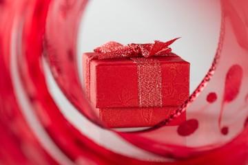 Ribbon and a small gift box