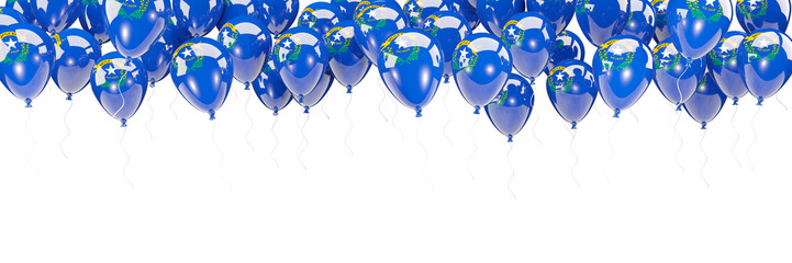 Balloons frame with flag of nevada. United states local flags