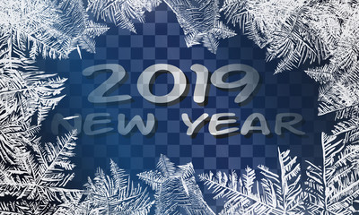 2019 Textures blue ice. Ice rink. Winter background. Overhead view. Vector illustration nature background. 2019 Vector Patterns Made by the Frost. Blue Winter Background for Christmas Designs. Xmas