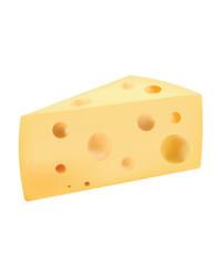 Cheese slice, vector