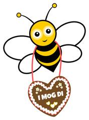 Biene mit Lebkuchenherz