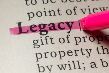 Wall Mural - definition of legacy
