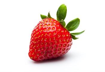 Ripe Strawberry Isolated on White