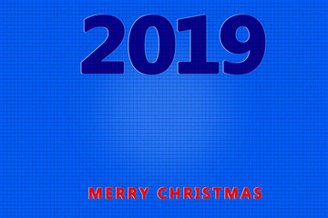 Blue plain embossed background happy new year 2019