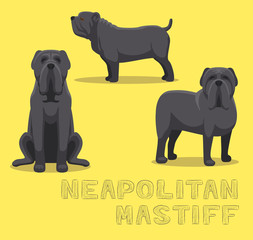Dog Neapolitan Mastiff Cartoon Vector Illustration