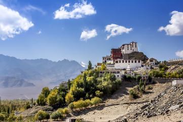 Wall Mural - View of Thikse Monastery, Leh Dalakh, India.