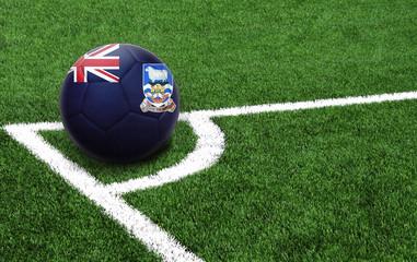 soccer ball, flag of Falkland Islands