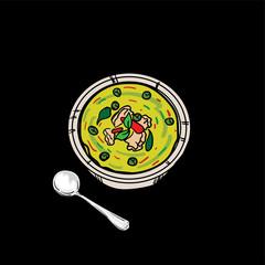 thai food Green curry