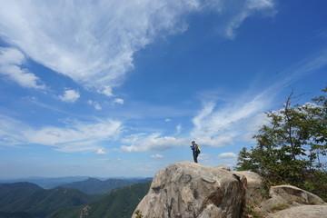 photo taken the mountain climbing