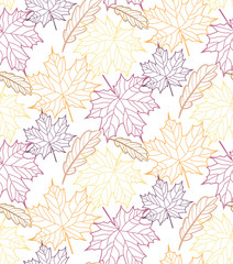 Autumn leaves pattern background