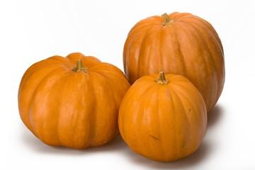 Three Large Pumpkin