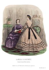 Gravure de La Mode Illustrée 1862 9