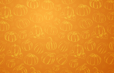 Autumn Backgrounds with Pumpkin for shopping sale, promo poster and frame leaflet, web banner. Vector illustration template.