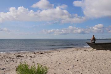 Ystad, Sweden, Mossby Beach, Boat, Paradies, Skåne