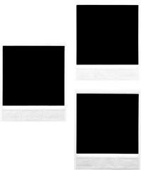 Three Blank Polaroid Frames - Isolated