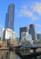 Melbourne South bank cityscape Australia
