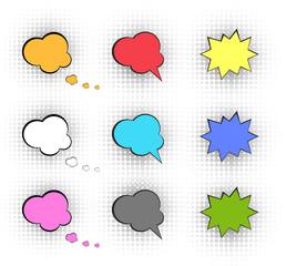 Comic vector speech box
