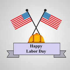 Illustration of U.S.A Labor Day background