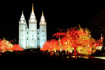 Salt Lake City Mormon Temple Christmas Lights