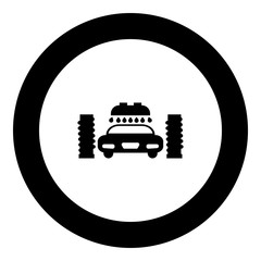 Car wash automatic icon black color in round circle
