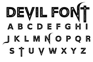 Devil font alphabet