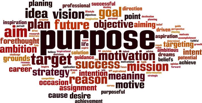 Purpose word cloud