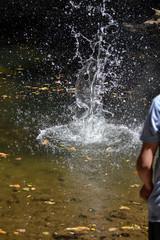 doing splash on the river