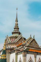Phra Viharn Yod in Wat Phra Kaew (Wat Phra Sri Rattana Satsadaram) in Bangkok, Thailand