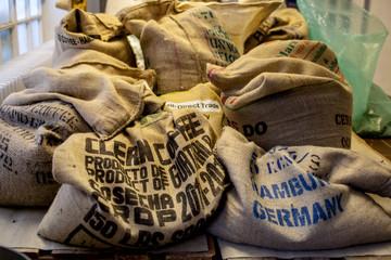 Kaffeesäcke Transport