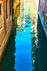 Venice in water reflection