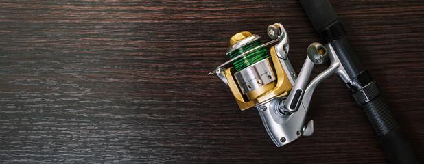 Foto op Plexiglas Vissen coil for fishing rod close-up