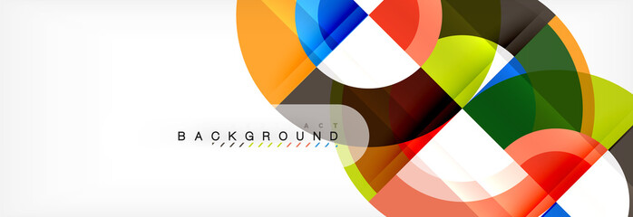 Vector circle abstract background