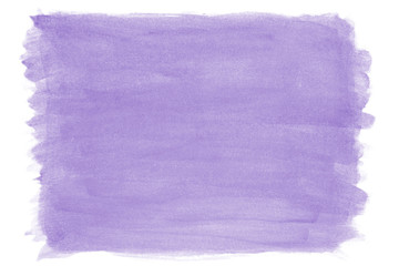 Foto auf Leinwand Flieder hand-painted purple lilac watercolor texture background