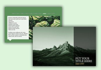 Green Web Presentation Layout with Timeline