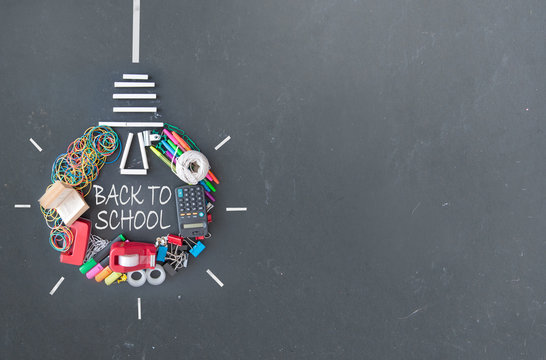 Back to school light bulb icon