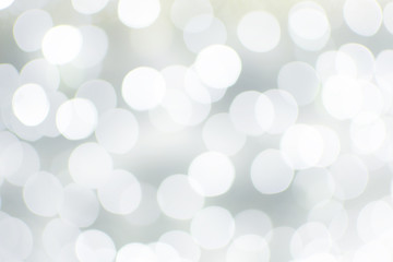 white blur abstract background. bokeh christmas