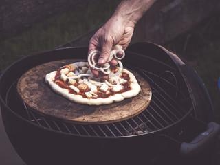 preparing best homemade pizza ever