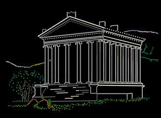 Greek antique building